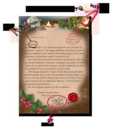 Indirizzo Di Babbo Natale Lapponia.Gregorys It Una Letterina A Babbo Natale