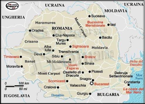 Cartina Romania Transilvania.Bucarest Gregorys It